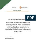 Un asesinato con mensaje. El crimen de Sandra Cabrera