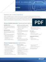 Windows Embedded Automotive 7 Datasheet