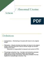 Abnormal Uterine Action
