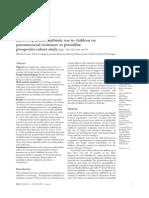Effect of â lactam antibiotic use in children on