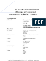 Agricultural Abandonment in Mountain Areas of Europe. Environmental Consequences and Policy Response