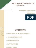 Importance of Micro Economics