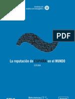 LA REPUTACIÓN DE ESPAÑA EN EL MUNDO