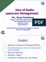 Foundation of Radio Spectrum Management