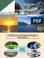 Aplicações recursos renováveis