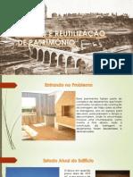GESTÃO E REUTILIZAÇÃO DE PATRIMÔNIO