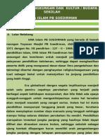 Lingkungan Budaya Sekolah Sma Soedirman