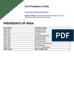 President India
