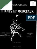 CRICKBOOM Chants Et Morceaux IV