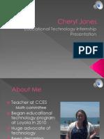 Jones Internship Presentation