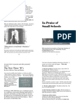In Praise of Small Schools (in 24 pages)
