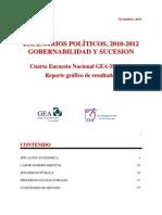Cuarta Encuesta Nacional GEA-IsA 2011 (Noviembre)