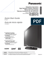 Panasonic Plasma TV TH42PX77U