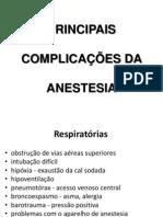 PRINCIPAIS COMPLICAÇÕES DA ANESTESIA