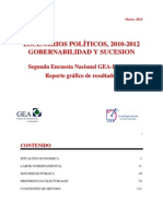 Segunda Encuesta Nacional GEA-IsA 2012 (Febrero)