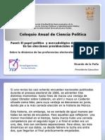 Sobre la dinámica de las preferencias electorales en México