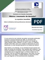 Sobre la dinámica de las preferencias electorales en México 2012
