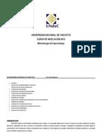 Cuadernillo  METODOLOGIA  APRENDIZAJE 2012