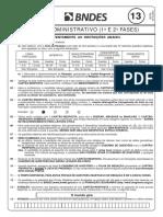 Cesgranrio 2013 Bndes Tecnico Administrativo Prova