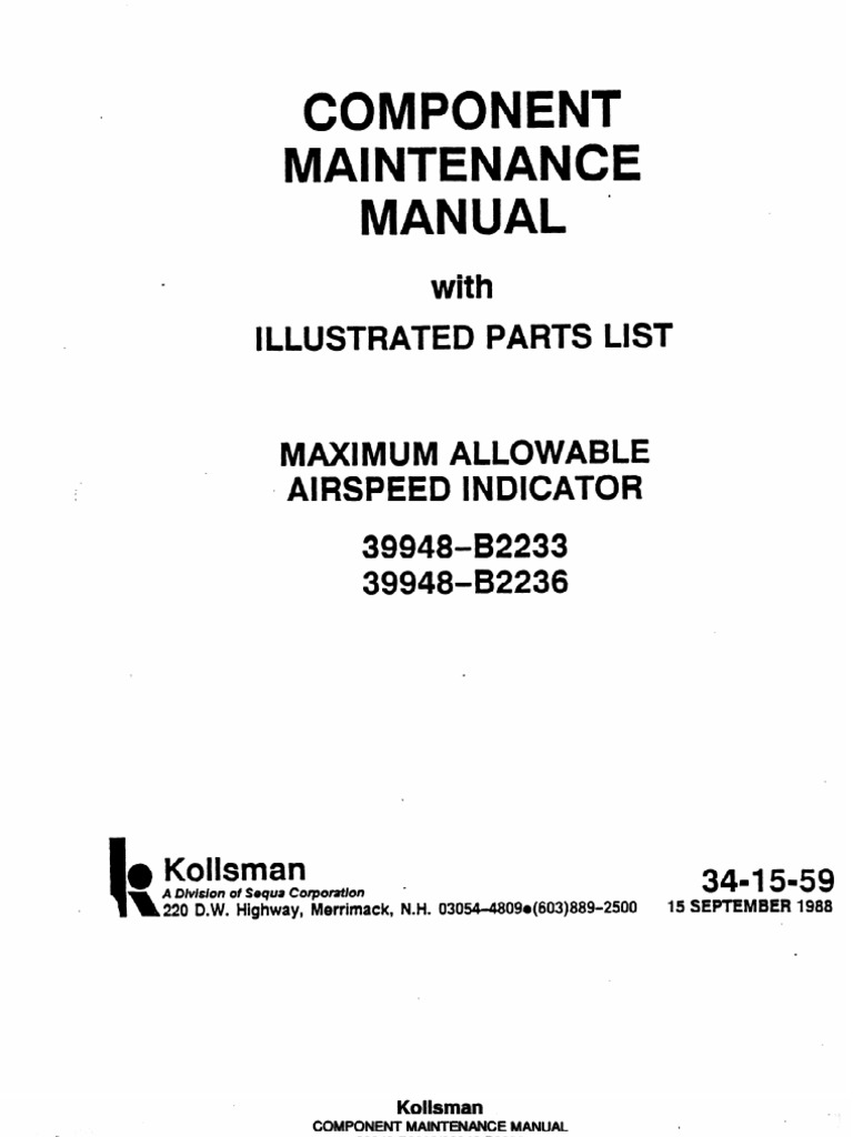 34 15 59a pdf component maintenance manual airspeed relay rh scribd com component maintenance manual 26-12-38 component maintenance manual levels