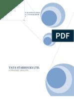 tata starbucks ltd - a strategic analysis