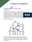 Análisis de defectos en transistores