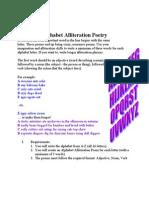 Alphabet Alliteration Poem
