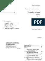 Hans Georg Gadamer, Verdad y Metodo (Cap 9)
