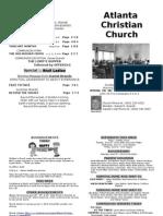 June 16,2013 Church Bulletin