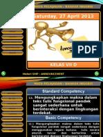 Materi Announcement SMP