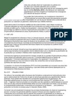PREVISION DE LA PRODUCTIVITE DES GISEMENTS D'HYDROCARBURES