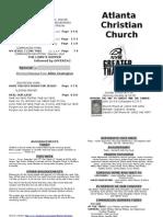 July 21, 2013 Church Bulletin