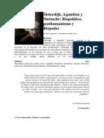 Agamben, Sloterdijk Posthumanismo-bioetica- Biopolitica