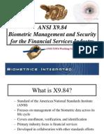 Biometrics Standards Financial