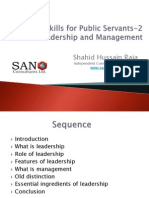 Essential Skills for Public Servants-2 Leadership and Management