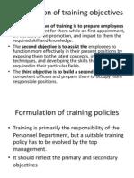 Formulation of Training Objectives