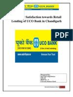 Customer Satisfaction Towards Retail Lending of UCO Bank in Chandigarh