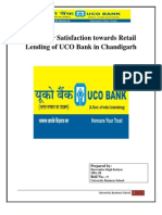 Customer Satisfaction Towards Retail Lending of UCO Bank in Chandigarh