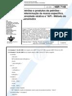 NBR 7148 - 2011 - Petróleo e Produtos do Petróleo