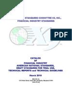 X9 Standards Catalog