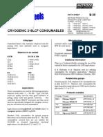 Metrode Cryogenic ER316 B-38