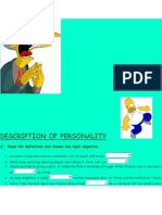 Description of Personality