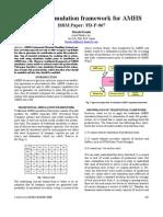 Advanced simulation framework for AMHS