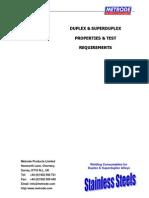 Metrode Welding Duplex & Superduplex Stainless Steels