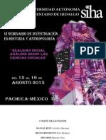 PROGRAMA GENERAL DEL VI SEMINARIO DE INVESTIGACIÓN EN HISTORIA Y ANTROPOLOGÍA (1)