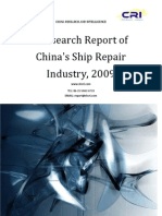 Research Report of China's Ship Repair Industry, 2009