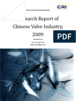 Research Report of Chinese Valve Industry, 2009