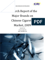 Research Report of the Major Brands on Chinese Cigarette Market, 2009