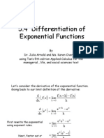 DifferentiationofExponentialFunctions(Proven)