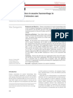 Transfusion Practices in Massive Haemorrhage in Pre-Intensive and Intensive Care